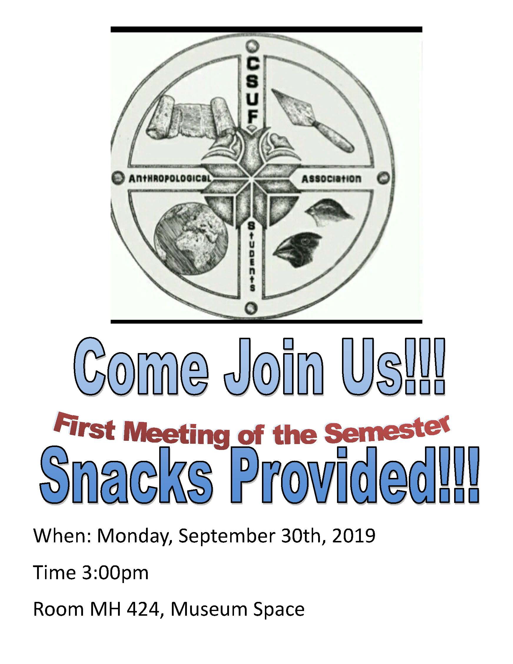 ASA First Meeting Flyer